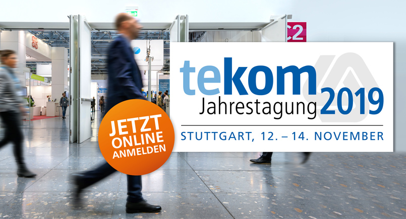 Tekom Show Stuttgart November 12th to 14th, 2019. The most important global event in the production and broadcasting of technical documentation